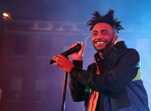 Rapper Amine performs onstage at MTV's 'Wonderland' LIVE Show on November 17, 2016 in Los Angeles, California.