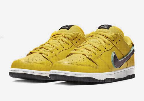 finest selection cd8d6 c8bfe Diamond Supply Co. x Nike SB Dunk Low Surfaces In Yellow ...