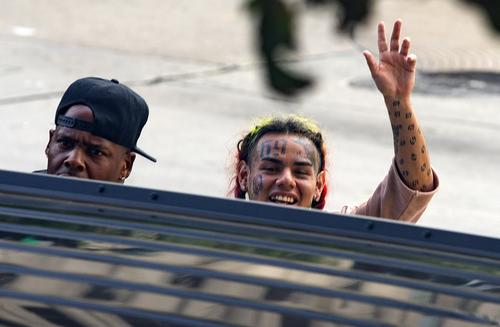 Tekashi69, real name Daniel Hernandez and also known as 6ix9ine, Tekashi 6ix9ine, Tekashi 69, leaves after his arraignment on assault charges in County Criminal Court #1 at the Harris County Courthouse on August 22, 2018 in Houston, Texas