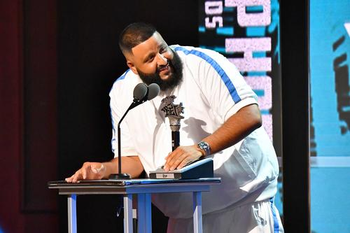 DJ Khaled onstage during the BET Hip Hop Awards 2018 at Fillmore Miami Beach on October 6, 2018 in Miami Beach, Florida