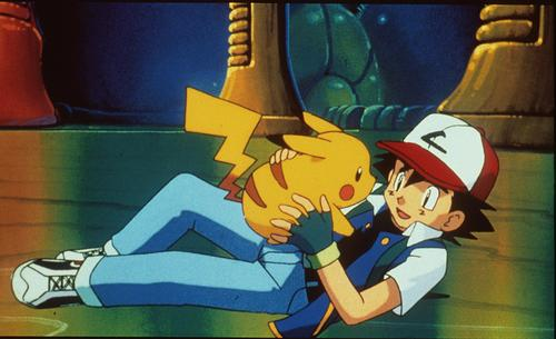 Pikachu & Ash, messin' around