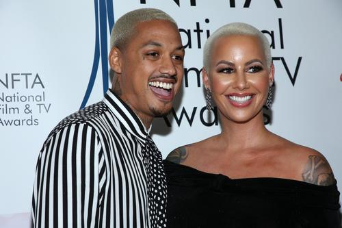 8a700b0f3ec1 Amber Rose Blinds Fans With Blinged Out
