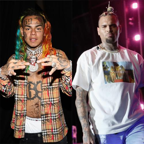 6ix9ine's Girlfriend Thinks Her New Tattoo Of His Face Looks