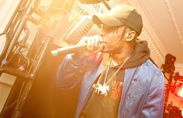 Travis Scott at a Diesel event