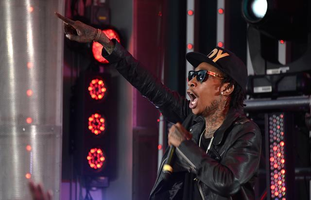 Wiz Khalifa performing at the Fast & Furious premiere