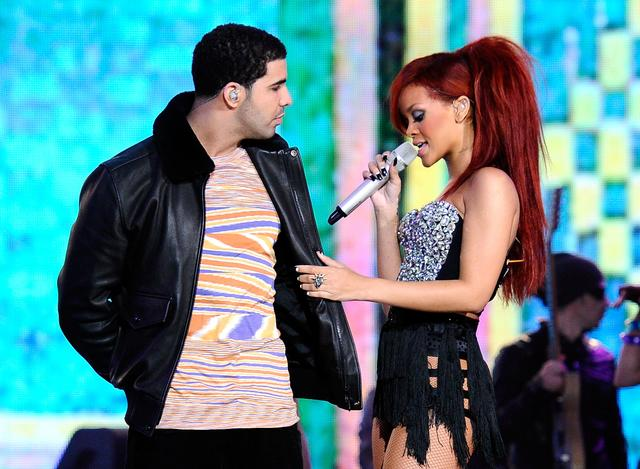 Drake Rihanna 2011 NBA All-Star Game - Performances And Celebrities