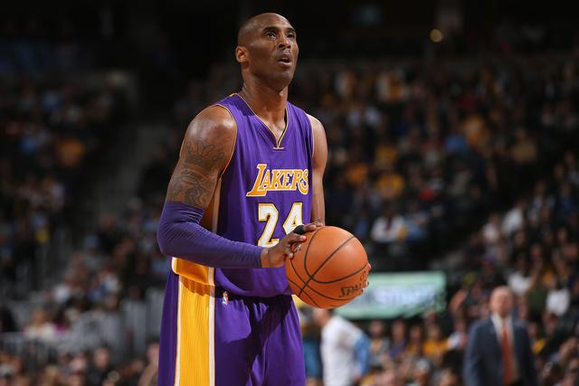 Kobe Bryant at Los Angeles Lakers v Denver Nuggets