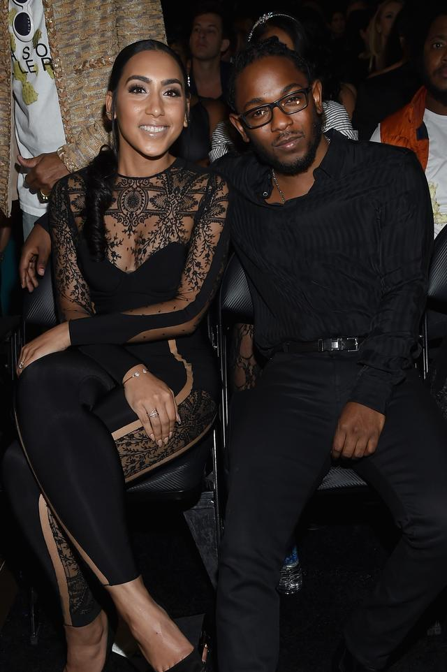 Kendrick Lamar and his girl at the Grammys