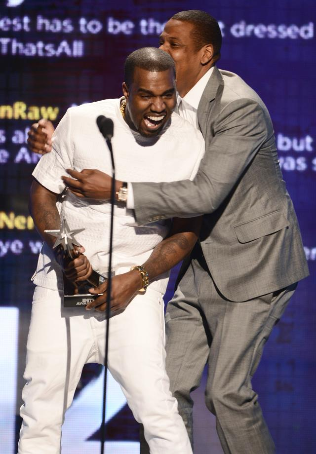 Kanye West and Jay Z at 2012 BET Awards