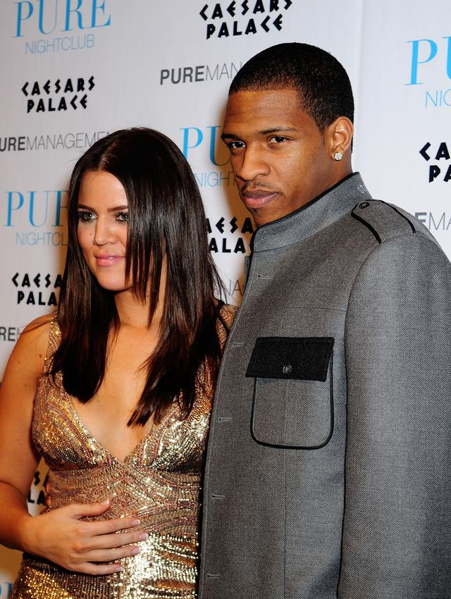 Khloe Kardashian and Rashad McCants in 2008