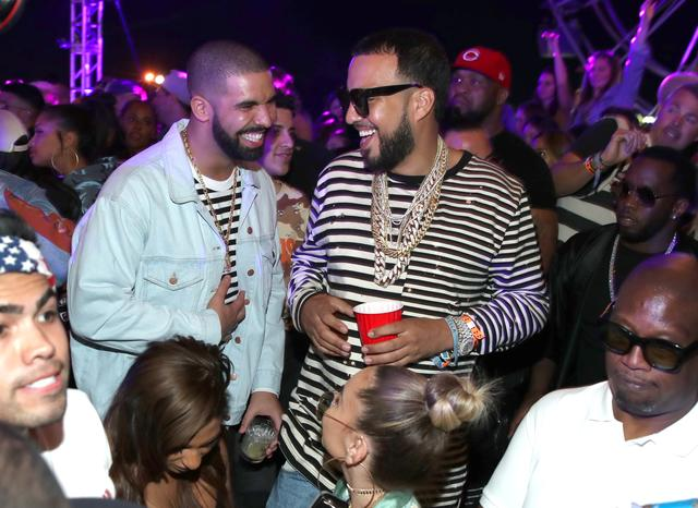 French Montana and Drake in the club together