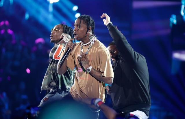 Travis Scott performing at the iHeart Music Festival