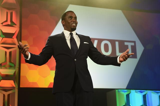Diddy in suit and tie