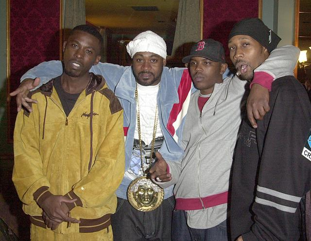 Ghostface Killah with his Versace medallion in 2002