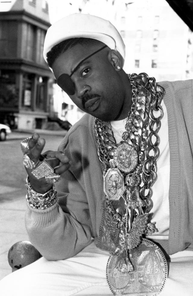 Slick Rick vintage photo with his chains