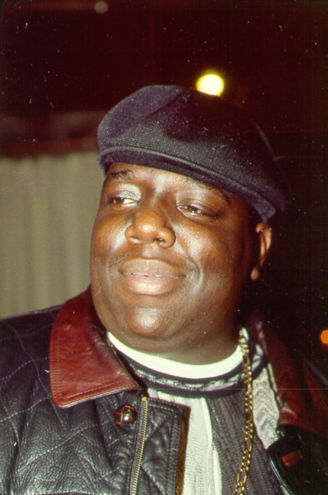 Vintage photo of Notorious BIG