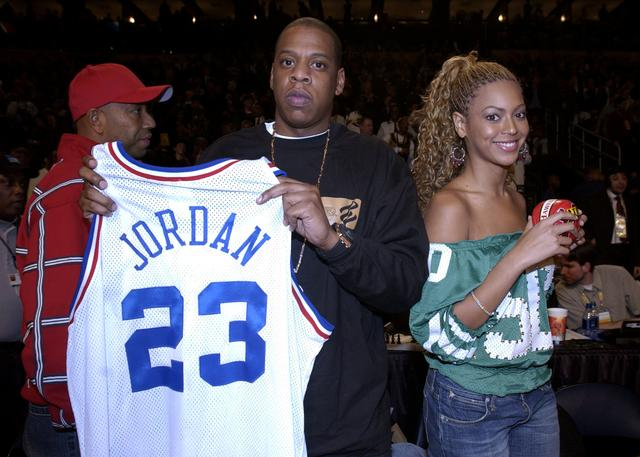 Jay-Z and Beyonce back in 2003