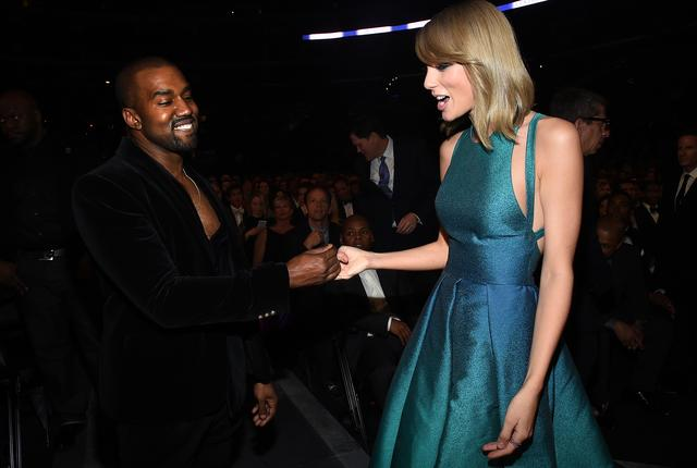 Kanye West and Taylor Swift meet