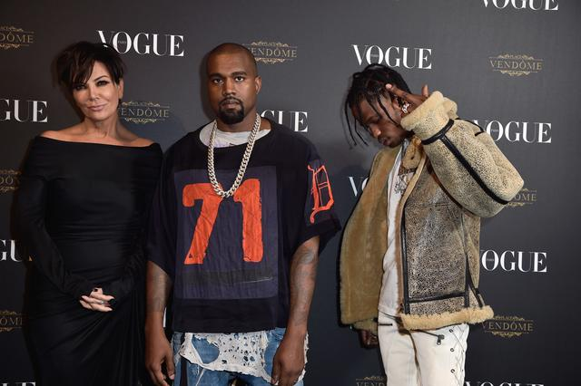 Travis Scott, Kanye West & Kris Jenner altogether