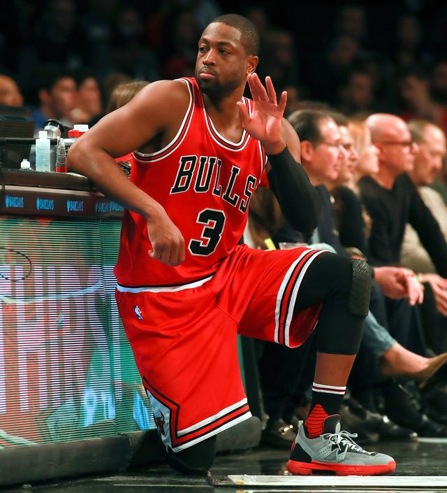 Dwayne Wade at Chicago Bulls v Brooklyn Nets