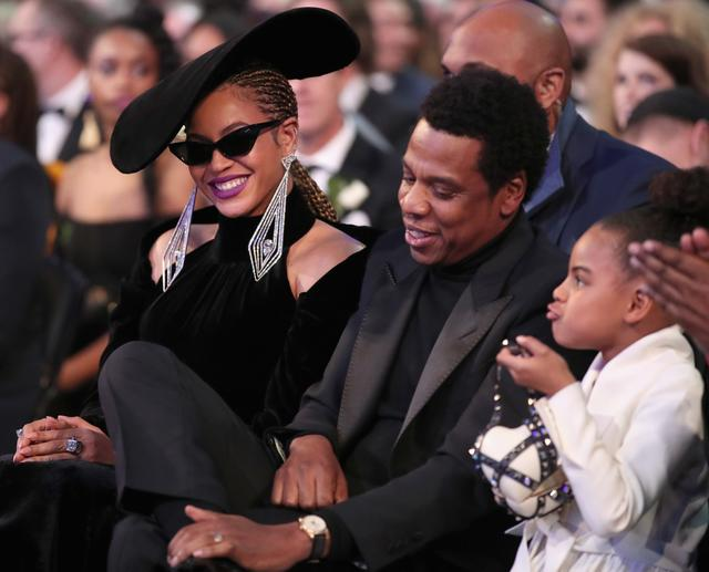 Beyonce, Jay-Z and Blue Ivy at the Grammys 2018