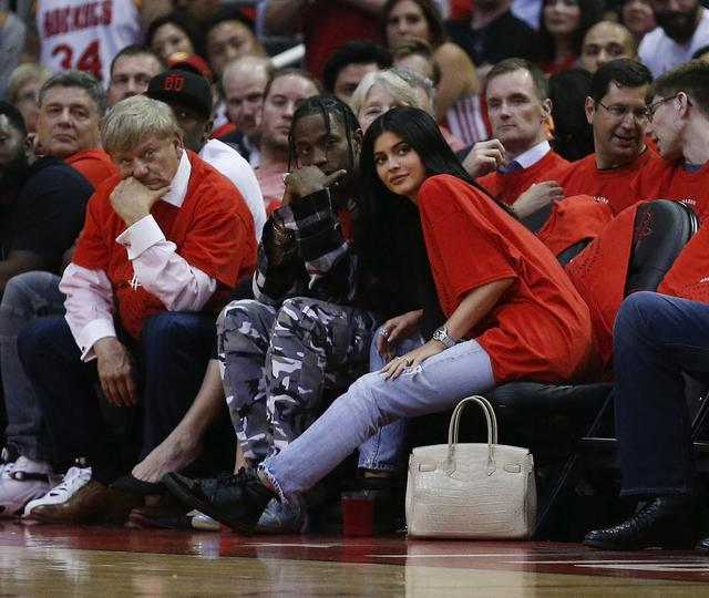 Kylie Jenner and Travis Scott together at bball game