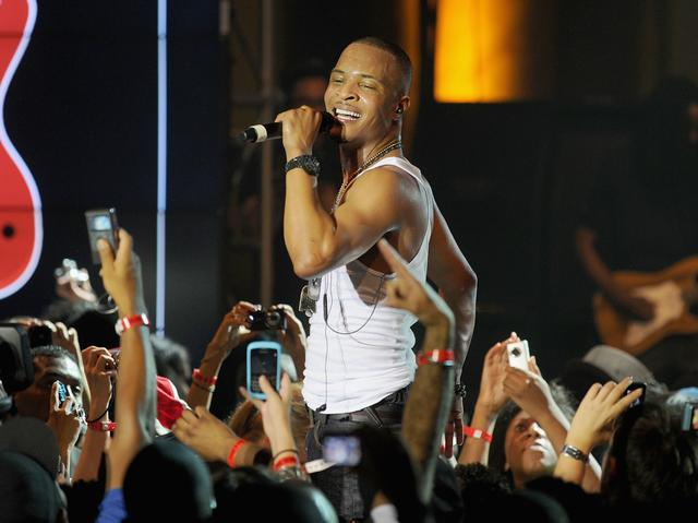 T.I. performing