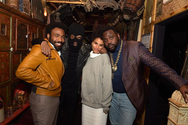 Childish Gambino and the cast of Atlanta