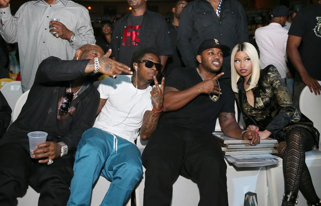 Birdman, Lil Wayne, Mack Maine & Nicki Minaj altogether