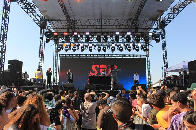 SOB X RBE performing at Smokers Club Fest 2018.
