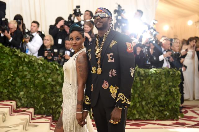 2 Chainz and his wifey at the Met Gala