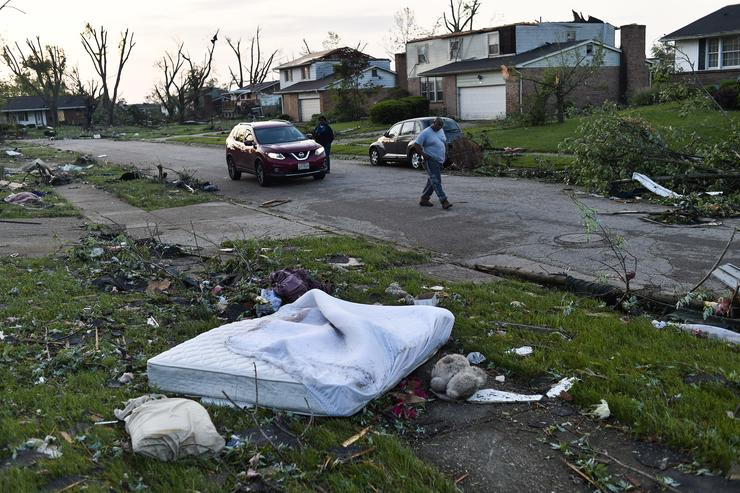Aftermath of the Tornado in Trotwood