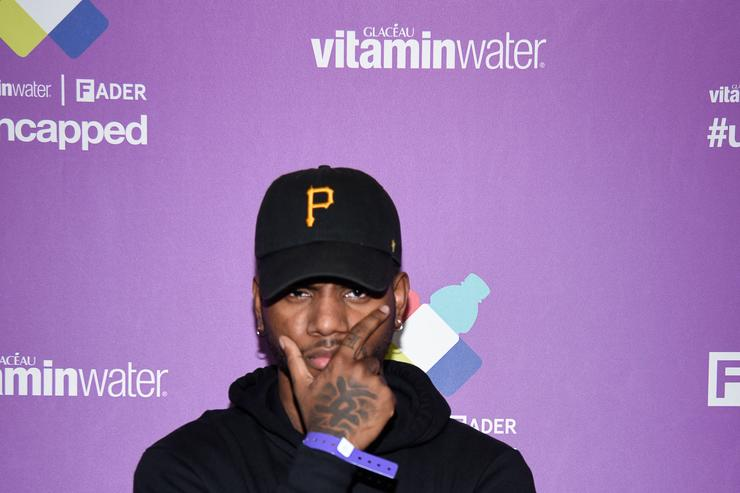 Bryson Tiller at a Vitamin Water event