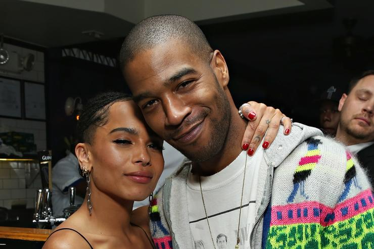 ctors Zoe Kravitz and Scott 'Kid Cudi' Mescudi attend the 2016 Tribeca Film Festival after party for Vincent N Roxxy at Black Market on April 19, 2016 in New York City.