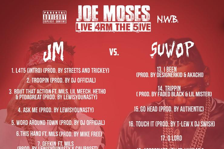 "tracklist for Joe Moses ""Live 4rom The 5ive"""