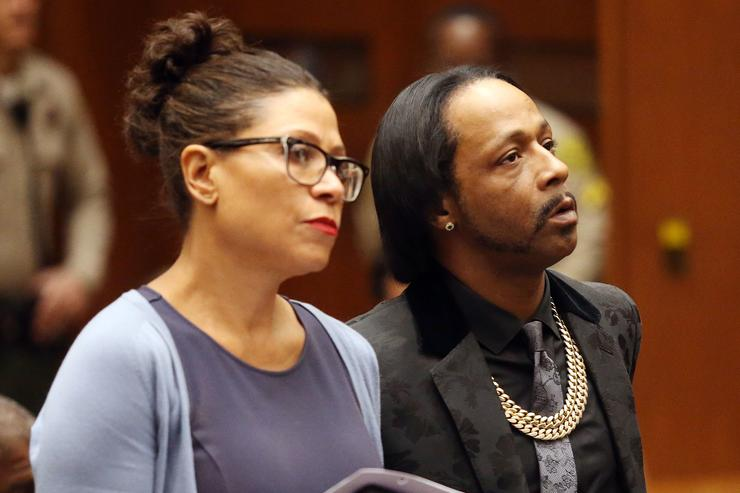 Katt Williams appearing in court for robbery case.