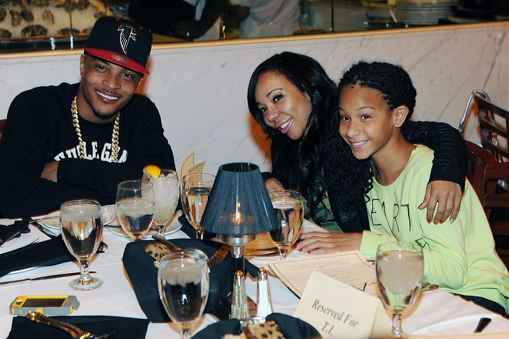 T.I. with Tiny his wife and family at AKOO's 2nd Annual 'A King Of Oneself Brunch' Hosted By T.I. at Ocean Prime on September 30, 2012 in Atlanta, Georgia.