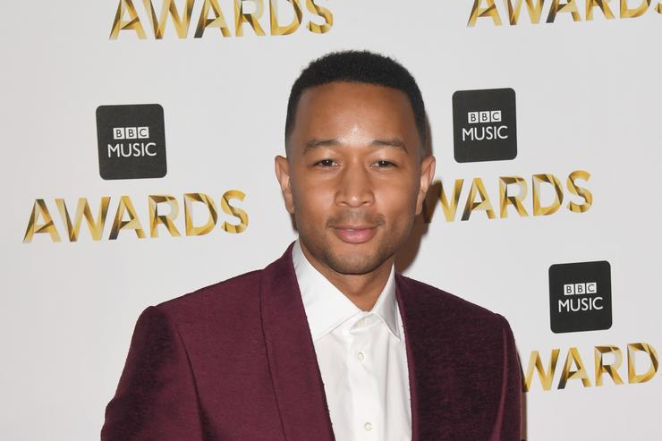 John Legend at the BBC Music Awards red carpet.