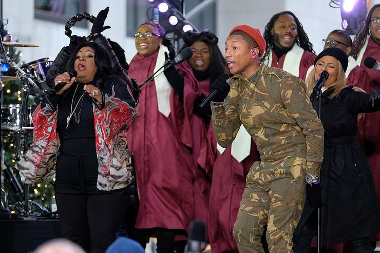 Kim Burrell and Pharrell Williams perform onstage during the Citi Concert Series on TODAY at Rockefeller Center on December 9, 2016 in New York City.