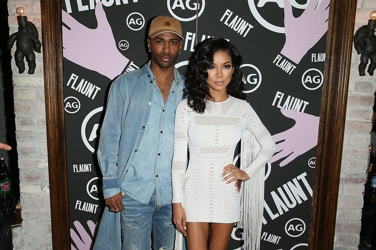 Big Sean and Jhene Aiko at Flaunt Magazine and GQ event.
