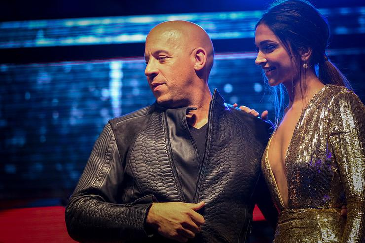 Vin Diesel and Deepika Padukone attend the fan event for Paramount Pictures 'xXx: The Return Of Xander Cage' on January 12, 2017 at PVR, Phoenix Lower Parel in Mumbai, India.