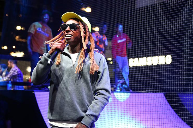 Lil Wayne performs at the Samsung booth at E3 Expo 2016 on June 15, 2016 in Los Angeles, California.