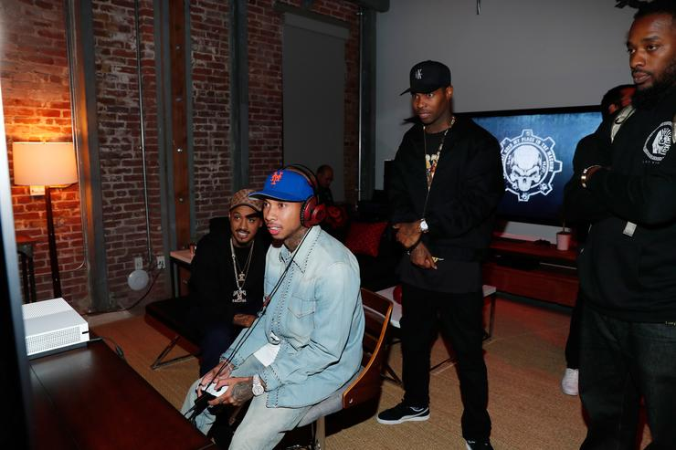 Tyga at Gears of War 4 launch event.