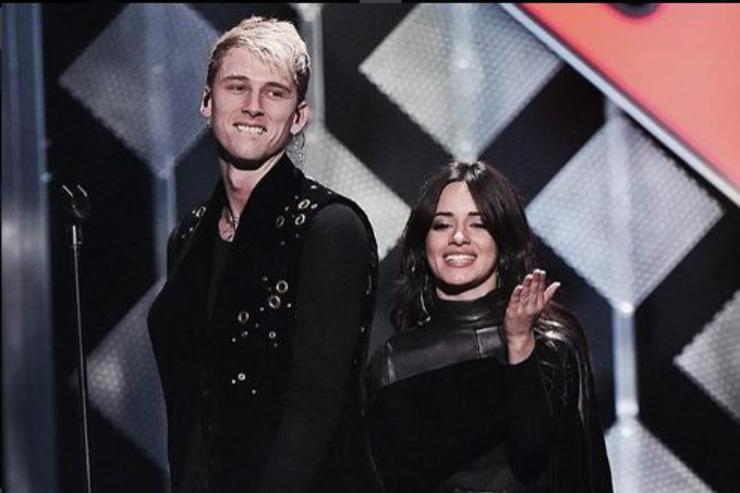 """Machine Gun Kelly and Camila Cabello performing """"Bad Things"""" at Madison Square Garden."""