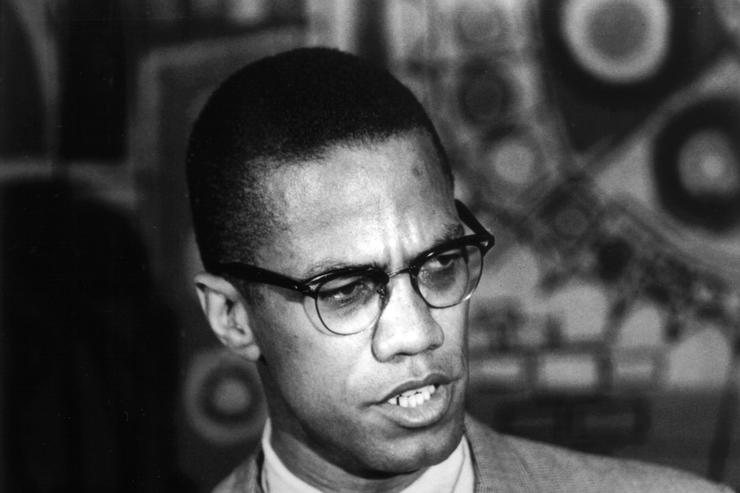 Portrait of Malcom X.