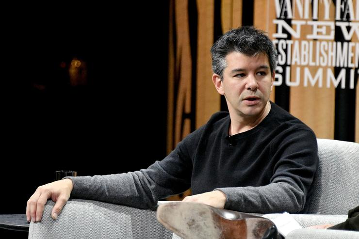 Travis Kalanick at Vanity Fair Establishment summit.