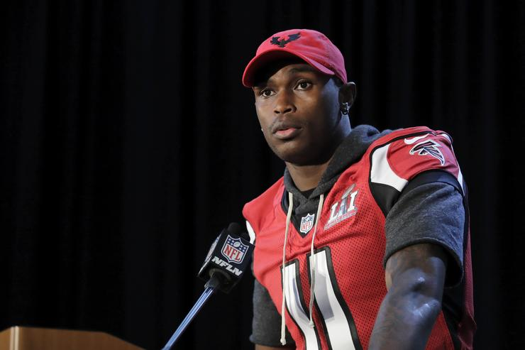 Julio Jones at Atlanta Falcons media day.