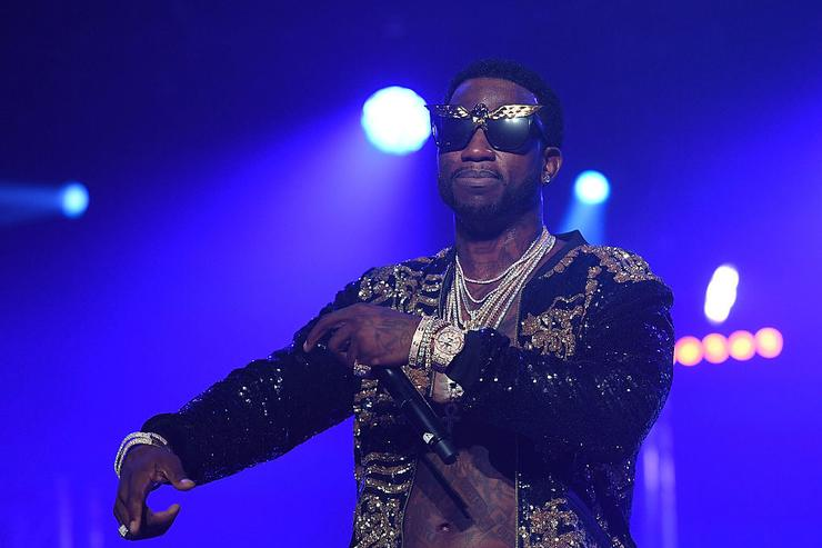 Gucci Mane performs on stage at Gucci and Friends Homecoming Concert at Fox Theatre on July 22, 2016 in Atlanta, Georgia.