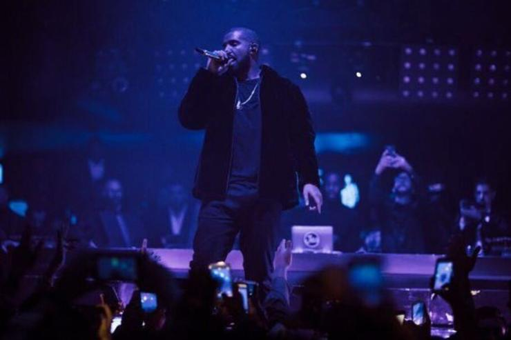 Drake performs at a show on New Year's Eve.