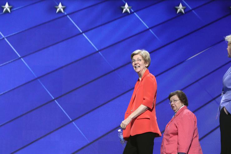 Senator Elizabeth Warren at the Democratic National Convention.